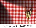 Three Ears Of Wheat On An Empt...