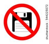 no floppy disk sign.  | Shutterstock .eps vector #544225072