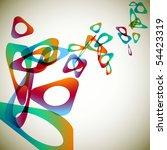 triangles rainbow background | Shutterstock .eps vector #54423319