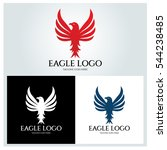 eagle logo design template ... | Shutterstock .eps vector #544238485