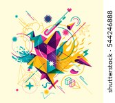 colorful abstract style... | Shutterstock .eps vector #544246888
