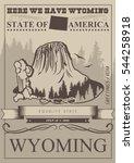 Wyoming Vector American Poster...