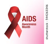 hiv aids awareness or substance ... | Shutterstock .eps vector #544263346