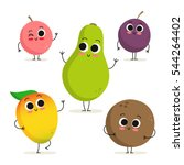 adorable collection of five... | Shutterstock .eps vector #544264402