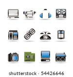 electronics  media and... | Shutterstock .eps vector #54426646