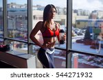 young fitness woman tired in... | Shutterstock . vector #544271932