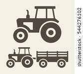 tractor icon set | Shutterstock .eps vector #544276102
