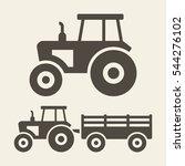 Tractor Icon Set