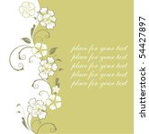 background with flower | Shutterstock .eps vector #54427897