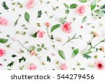 floral pattern made of pink and ... | Shutterstock . vector #544279456