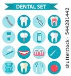 dental icon set  flat style....   Shutterstock .eps vector #544281442