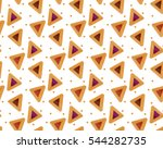 purim hamantaschen seamless... | Shutterstock .eps vector #544282735