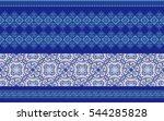 seamless elegant oriental... | Shutterstock .eps vector #544285828
