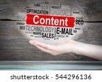 content concept. word cloud in... | Shutterstock . vector #544296136