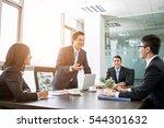 positive asian business team... | Shutterstock . vector #544301632