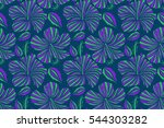 elegant seamless pattern with... | Shutterstock . vector #544303282