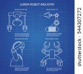robot arms blueprint vector... | Shutterstock .eps vector #544307272