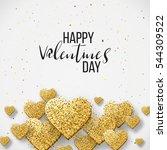 happy valentine day festive... | Shutterstock .eps vector #544309522