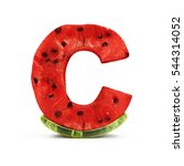 watermelon alphabet isolated on ... | Shutterstock . vector #544314052