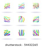 set of nine colorful design... | Shutterstock .eps vector #54432265