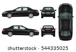 black car vector template.... | Shutterstock .eps vector #544335025