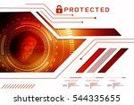 2d illustration fingerprint...   Shutterstock . vector #544335655