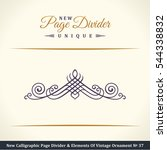 new calligraphic page divider... | Shutterstock .eps vector #544338832