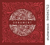 round red calligraphic royal... | Shutterstock .eps vector #544341712