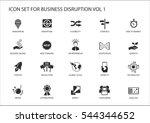 digital business disruption...   Shutterstock .eps vector #544344652