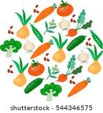 vegetables seamless pattern   Shutterstock .eps vector #544346575