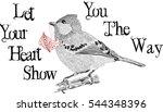 lovely little bird sketch  ... | Shutterstock .eps vector #544348396