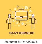 vector business illustration of ... | Shutterstock .eps vector #544350025