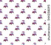 golf car pattern. cartoon... | Shutterstock .eps vector #544358095