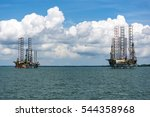 oil rigs located near the... | Shutterstock . vector #544358968