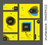 abstract flyer art. yellow... | Shutterstock .eps vector #544359112
