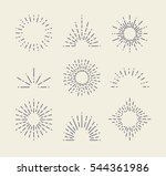 set of vintage sunbursts in... | Shutterstock .eps vector #544361986