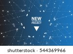 abstract hexagon background.... | Shutterstock .eps vector #544369966