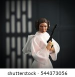 carrie fisher as princess leia... | Shutterstock . vector #544373056
