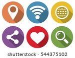 set of icons for internet in a...
