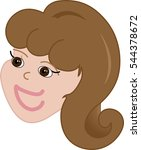 young brown eyed girl with... | Shutterstock .eps vector #544378672