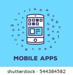 vector illustration of a phone... | Shutterstock .eps vector #544384582