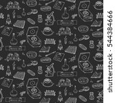 seamless pattern hand drawn... | Shutterstock .eps vector #544384666