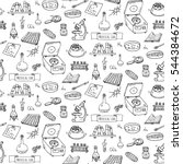 seamless pattern hand drawn... | Shutterstock .eps vector #544384672