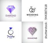 vector set of jewellery logos.... | Shutterstock .eps vector #544387618