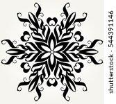 ornate doodle round rosette in...   Shutterstock .eps vector #544391146