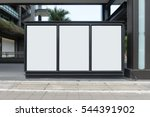 large blank billboard on a... | Shutterstock . vector #544391902