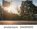 basketball players playing... | Shutterstock . vector #544394095