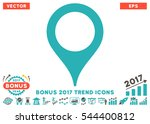 grey and cyan map pointer... | Shutterstock .eps vector #544400812