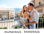 couple walking in the city of... | Shutterstock . vector #544405426
