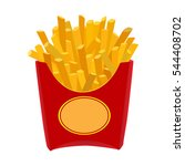 french fries box icon over... | Shutterstock .eps vector #544408702